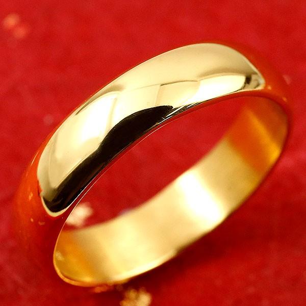 純金 24金 ゴールド k24 幅広 指輪 ピンキーリング 地金リング 1-10号 ストレート レディース 送料無料