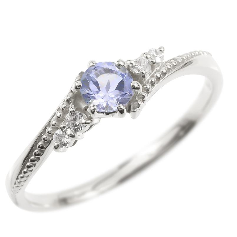 リング ダイヤモンド タンザナイト 一粒 レディース 指輪 シルバー925 sv925 婚約指輪 ピンキーリング 大粒 ミル打ち 女性 送料無料