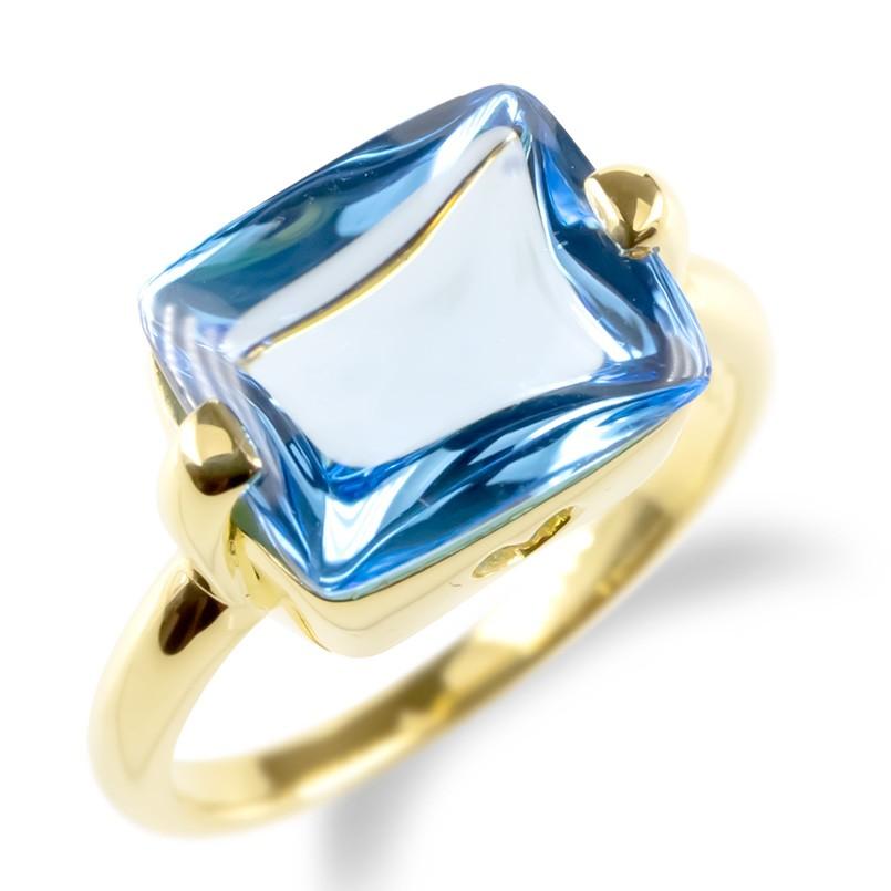婚約指輪 安い 18金 リング レディース ブルートパーズ 大粒 指輪 ゴールド 18k イエローゴールドk18 エンゲージリング ピンキーリング ハート 女性 送料無料