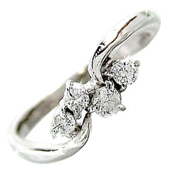 ピンキーリング 指輪 ダイヤモンド リング ホワイトゴールドK18 ダイヤモンド 18金 ダイヤモンドリング ダイヤ ストレート 送料無料
