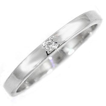 ピンキーリング プラチナリング 指輪 ダイヤモンド リング 一粒 ダイヤモンドリング ダイヤ ストレート 送料無料