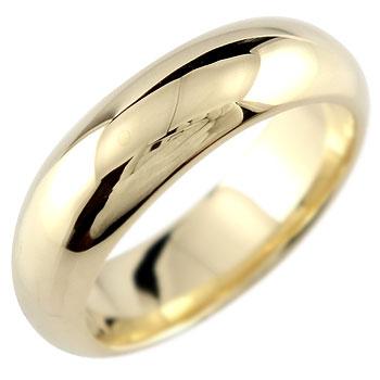 18金 リング 太め ゴールド レディース 18k シンプル ピンキーリング ゴールド イエローゴールドk18 指輪 甲丸 地金リング 宝石なし 送料無料