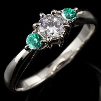 スワロフスキーキュービックジルコニア リング エメラルド 指輪 シルバー 大粒 ストレート 宝石 送料無料