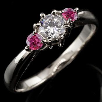 スワロフスキーキュービックジルコニア リング ルビー 指輪 シルバー 大粒 ストレート 宝石 送料無料