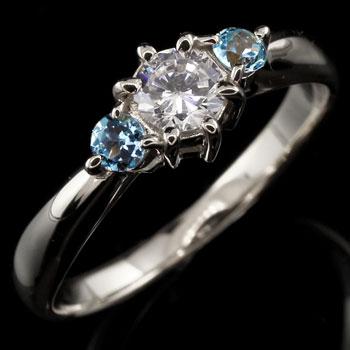 スワロフスキーキュービックジルコニア リング ブルートパーズ 指輪 シルバー 大粒 ストレート 宝石 送料無料