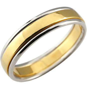 カウくる ピンキーリング 指輪 指輪 18金 イエローゴールドk18 リング プラチナ コンビ 地金リング 宝石なし 18金 プラチナ ストレート 送料無料:ジュエリー工房アトラス, ZAKKA ZOO:7f8cc1ff --- daftarfoodizz.id
