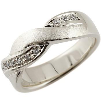 ピンキーリング ダイヤモンド プラチナリング ダイヤ 指輪 ダイヤモンドリング 幅広 つや消し pt900 ストレート 送料無料
