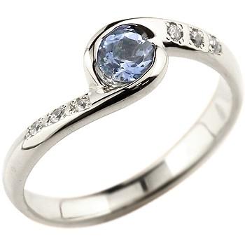 ピンキーリング タンザナイト プラチナリング 指輪 ダイヤモンド スパイラルリング 大粒 pt900 レディース 12月誕生石 ダイヤ ストレート 宝石 送料無料