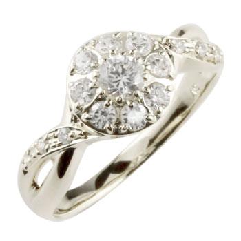ピンキーリング ダイヤモンド プラチナリング ダイヤ 指輪 ダイヤモンドリング 取り巻き ストレート 送料無料