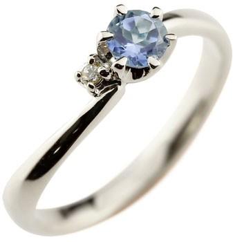 ピンキーリング タンザナイト プラチナリング 指輪 ダイヤモンド 大粒 pt900 レディース 12月誕生石 ダイヤ ストレート 宝石 送料無料