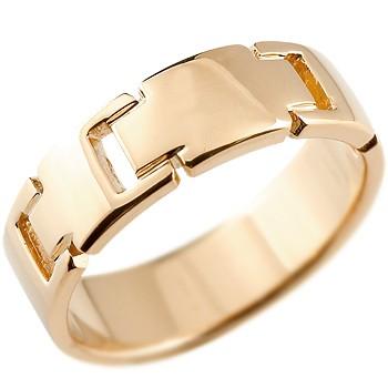 ピンキーリング クロス リング 指輪 地金リング 幅広指輪 ピンクゴールドk18 18金 十字架 シンプル 宝石なし レディース ストレート 送料無料