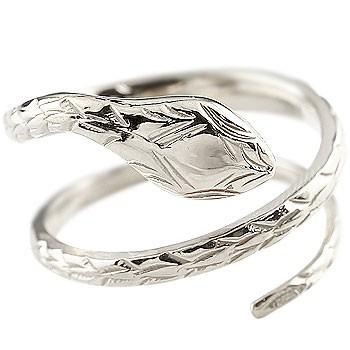ピンキーリング プラチナ ヘビ 蛇 指輪 プラチナリング 地金リング フリーサイズ pt900 レディース 送料無料