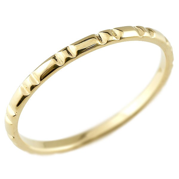 ピンキーリング イエローゴールドk10 極細 10金 華奢 ストレート 指輪 送料無料