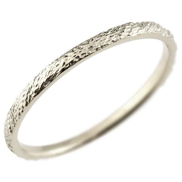 ピンキーリング プラチナリング pt900 極細 華奢 アンティーク ストレート 指輪 送料無料