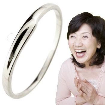 ピンキーリング ホワイトゴールドk18 18金 極細 華奢 指輪 ばぁばリング お誕生日 敬老の日 長寿のお祝い ストレート 2.3 送料無料