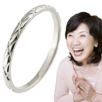 ピンキーリング ホワイトゴールドk18 18金 極細 華奢 アンティーク 指輪 ばぁばリング お誕生日 敬老の日 長寿のお祝い ストレート 2.3 送料無料