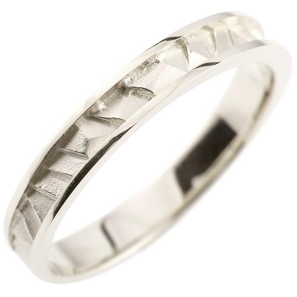 指輪 ホワイトゴールドk10 リング ピンキーリング 地金リング 10金 つや消し シンプル 宝石なし レディース ストレート 送料無料