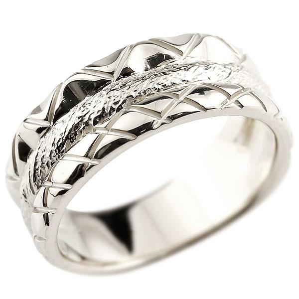 リング ホワイトゴールドk10 指輪 幅広リング レディース ピンキーリング 地金リング 10金 送料無料