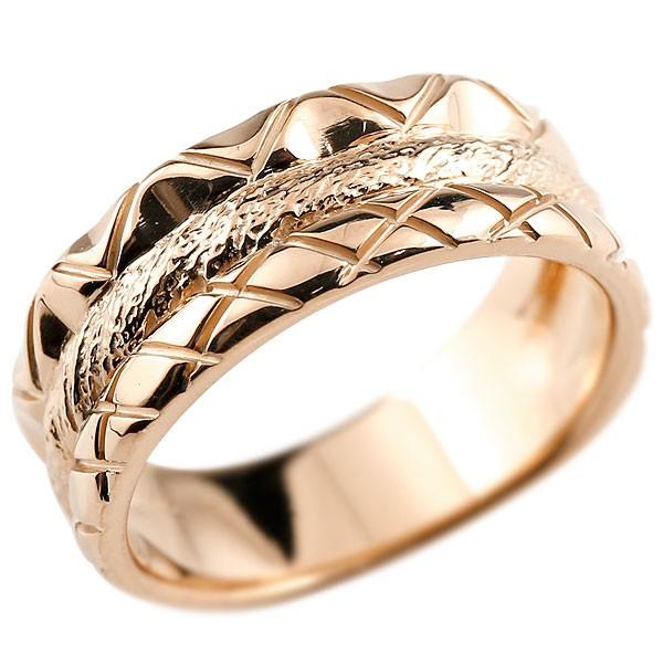 リング ピンクゴールドk10 指輪 幅広リング レディース ピンキーリング 地金リング 10金 送料無料