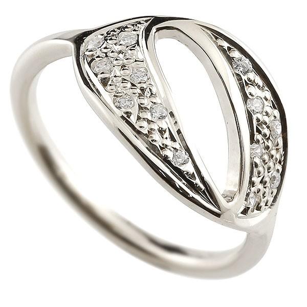 ピンキーリング ダイヤモンド ナンバー0 ホワイトゴールドk10 10金 リング 指輪 数字 ストレート 送料無料