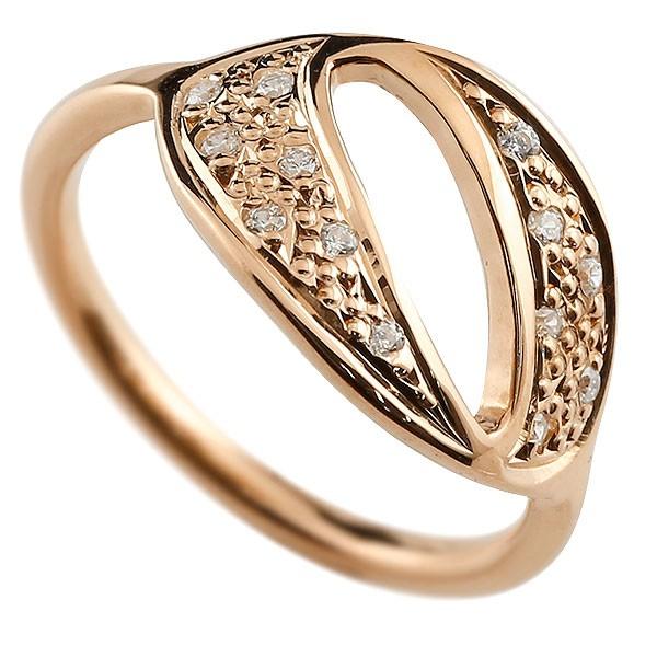 ピンキーリング ダイヤモンド ナンバー0 ピンクゴールドk10 10金 リング 指輪 数字 ストレート 送料無料
