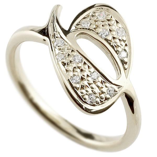 ピンキーリング ダイヤモンド ナンバー6 シルバー sv935 リング 指輪 数字 ストレート 送料無料