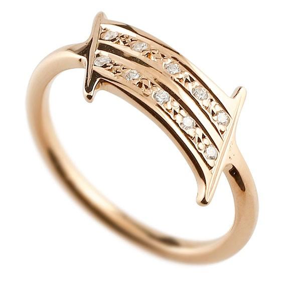 ピンキーリング ダイヤモンド ナンバー1 ピンクゴールドk10 10金 リング 指輪 数字 ストレート 送料無料