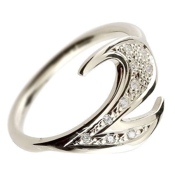 ピンキーリング ダイヤモンド ナンバー2 ホワイトゴールドk18 18金 リング 指輪 数字 ストレート 送料無料