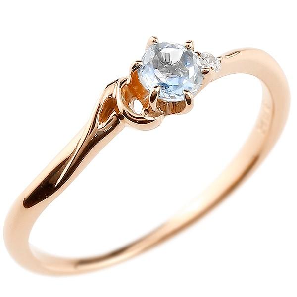 イニシャル ネーム A ピンキーリング ブルームーンストーン ダイヤモンド 華奢リング ピンクゴールドk10 指輪 アルファベット 10金 レディース 6月誕生石