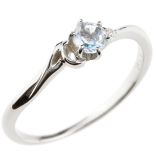 イニシャル ネーム A ピンキーリング ブルームーンストーン ダイヤモンド 華奢リング プラチナ 指輪 アルファベット レディース 6月誕生石 人気 送料無料