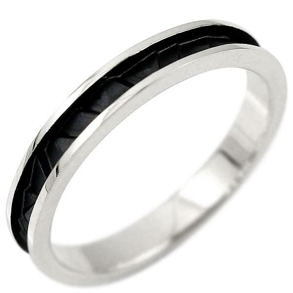 プラチナリング 指輪 ピンキーリング 地金リング ブラックメッキ つや消し シンプル 宝石なし pt900 レディース ストレート 送料無料