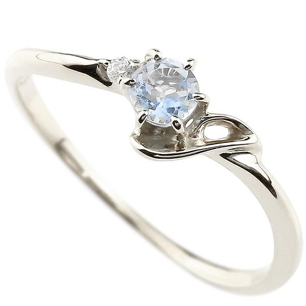イニシャル ネーム J ピンキーリング ブルームーンストーン ダイヤモンド 華奢リング ホワイトゴールドk18 指輪 アルファベット 18金 レディース 6月誕生石