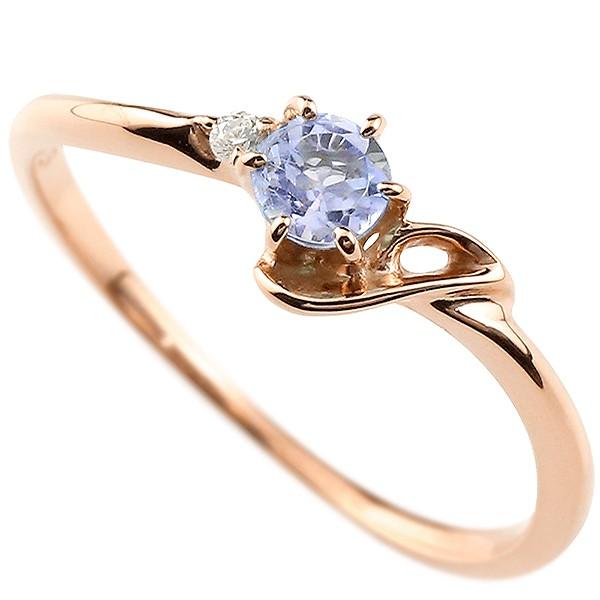 指輪 イニシャル ネーム J ピンキーリング タンザナイト ダイヤモンド 華奢リング ピンクゴールドk18アルファベット 18金 レディース 12月誕生石 人気 送料無料