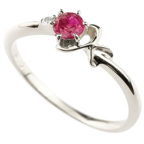 人気 7月誕生石 イニシャル 華奢リング K ネーム 送料無料 ルビー 指輪 ピンキーリング プラチナアルファベット ダイヤモンド レディース