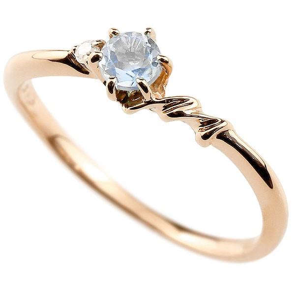 イニシャル ネーム M ピンキーリング ブルームーンストーン ダイヤモンド 華奢リング ピンクゴールドk10 指輪 アルファベット 10金 レディース 6月誕生石