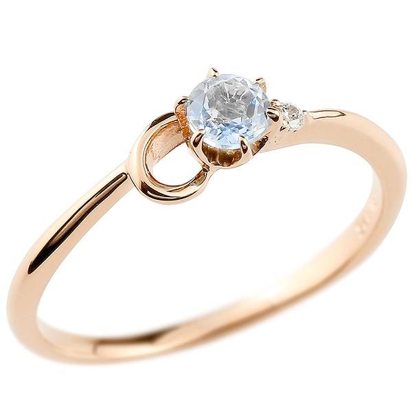 イニシャル ネーム C ピンキーリング ブルームーンストーン ダイヤモンド 華奢リング ピンクゴールドk10 指輪 アルファベット 10金 レディース 6月誕生石