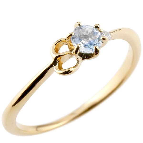 イニシャル ネーム E ピンキーリング ブルームーンストーン ダイヤモンド 華奢リング イエローゴールドk10 指輪 アルファベット 10金 レディース 6月誕生石