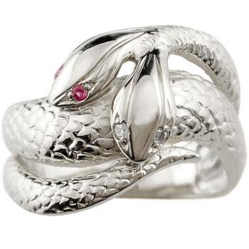 ピンキーリング スネークリング プラチナリング 双頭のへび 蛇 へび ヘビ 宝石 送料無料