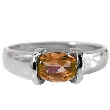 ピンキーリング スペサタイトガーネット リング 指輪 ホワイトゴールドk18 18金 1月誕生石 ストレート 宝石 送料無料