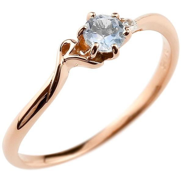 イニシャル ネーム R ピンキーリング ブルームーンストーン ダイヤモンド 華奢リング ピンクゴールドk18 指輪 アルファベット 18金 レディース 6月誕生石