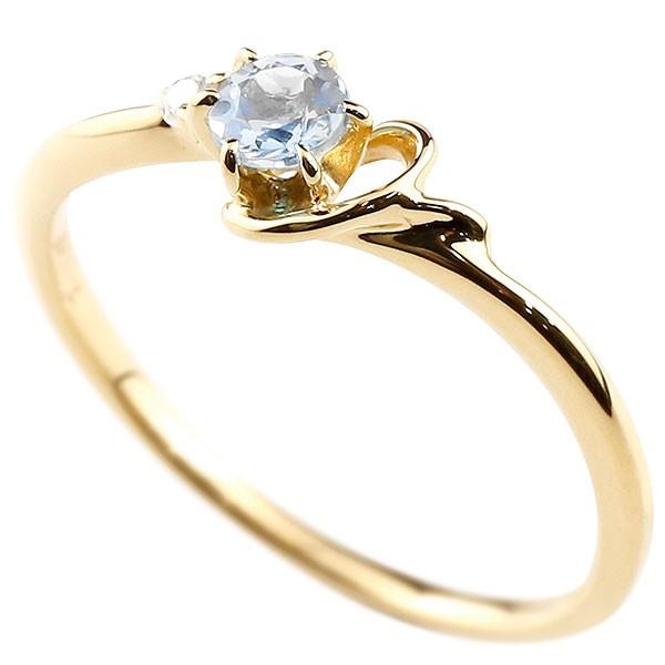 イニシャル ネーム Y ピンキーリング ブルームーンストーン ダイヤモンド 華奢リング イエローゴールドk10 指輪 アルファベット 10金 レディース 6月誕生石