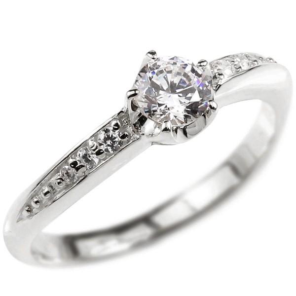 婚約指輪 リング ダイヤモンド シルバー エンゲージリング ダイヤ 0.3ct 一粒 大粒 指輪 ピンキーリング sv925 宝石 レディース 送料無料