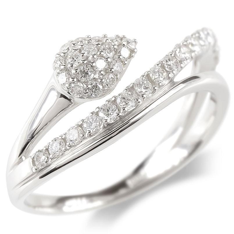 婚約指輪 安い プラチナ リング レディース ダイヤモンド エンゲージリング ダイヤ 蛇 スネーク 指輪 ピンキーリング pt900 宝石 女性 送料無料