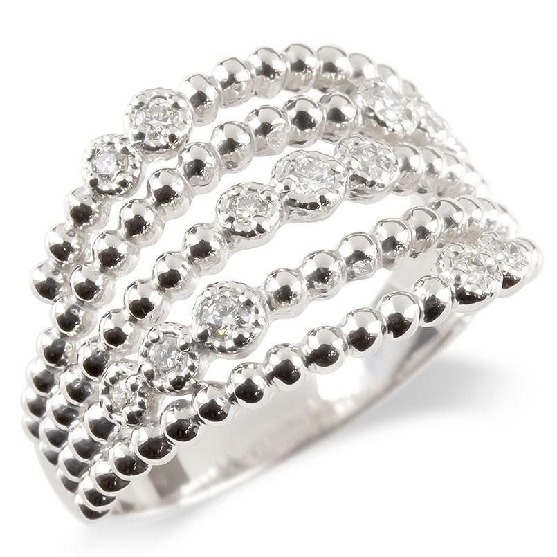プラチナ リング レディース ダイヤモンド 婚約指輪 安い エンゲージリング ダイヤ 幅広 ボール 指輪 ピンキーリング pt900 宝石 女性 送料無料