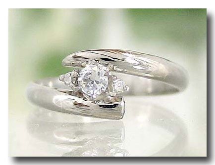 ピンキーリング ピンキーリングダイヤモンド スワロフスキーキュービックジルコニア指輪 ダイヤ 10金 ストレート 宝石 送料無料