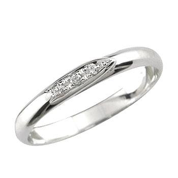 ピンキーリング ダイヤモンド リング ホワイトゴールドk10リング 指輪 ダイヤ 10金 ストレート 宝石 送料無料