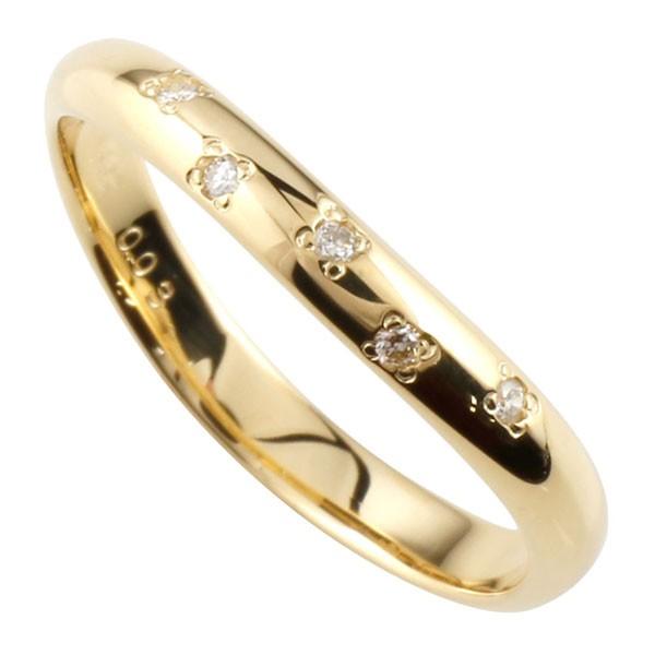 ピンキーリングダイヤモンド k10指輪 ダイヤ 10金 ストレート 2.3 宝石 送料無料