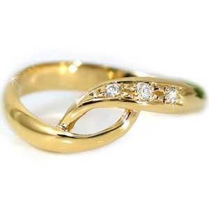 ピンキーリング ピンキーリングダイヤモンド リングk10指輪 ダイヤ 10金 ストレート 2.3 宝石 送料無料
