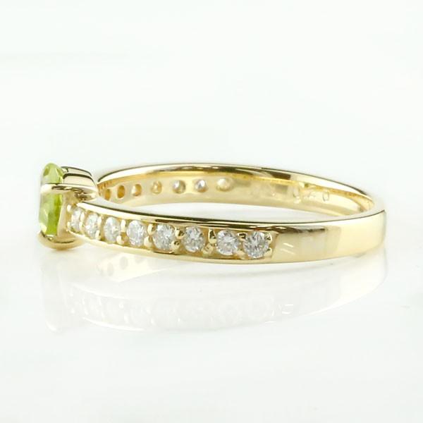ピンキーリング ピンキーリングブルートパーズダイヤモンド リングk10指輪 ダイヤ 10金 ストレート 宝石 送料無料
