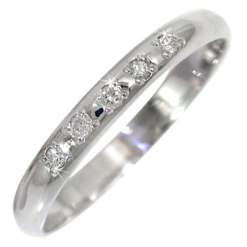 ホワイトゴールドk10リング 指輪 ピンキーリング ダイヤモンド リングダイヤモンド 0.05ct ダイヤ 10金 ストレート 2.3 宝石 送料無料